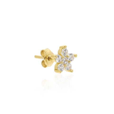 Big Flower Stud Earring