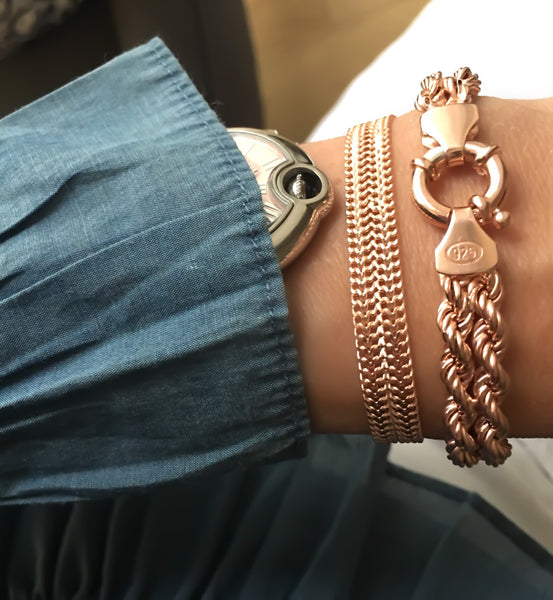 Vintage Double Rope Chain Bracelet