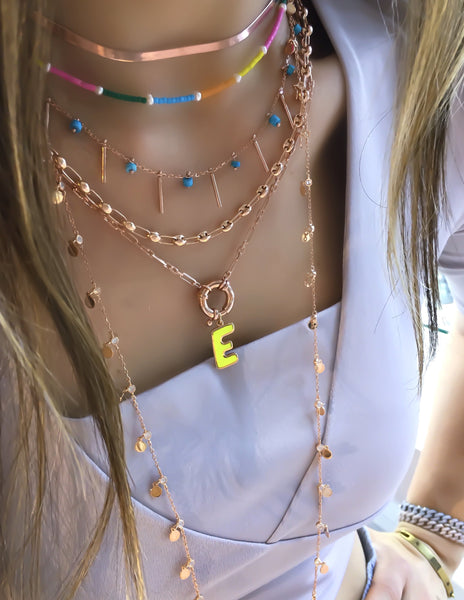 Button Chain Necklace