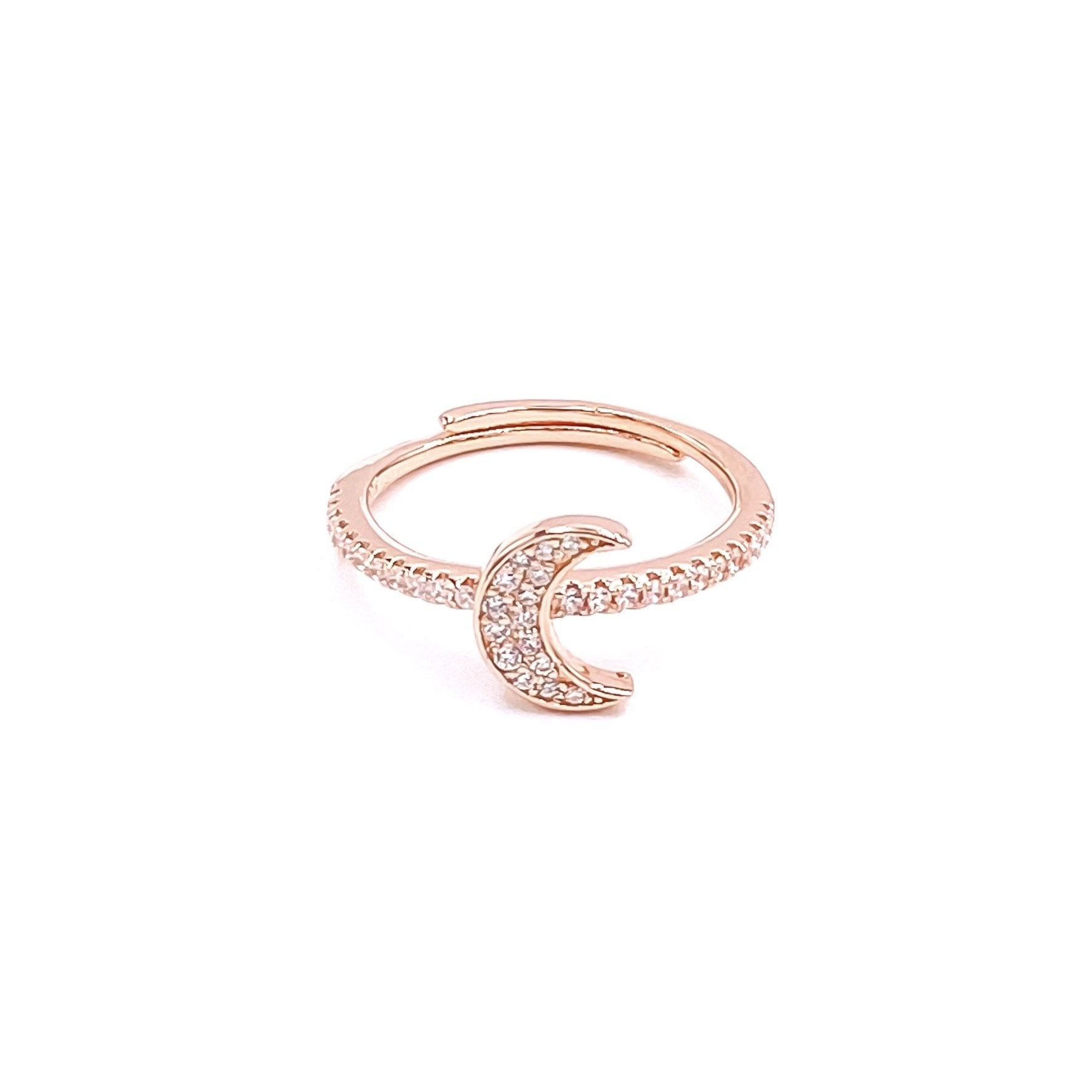 Moon Pave Set Ring