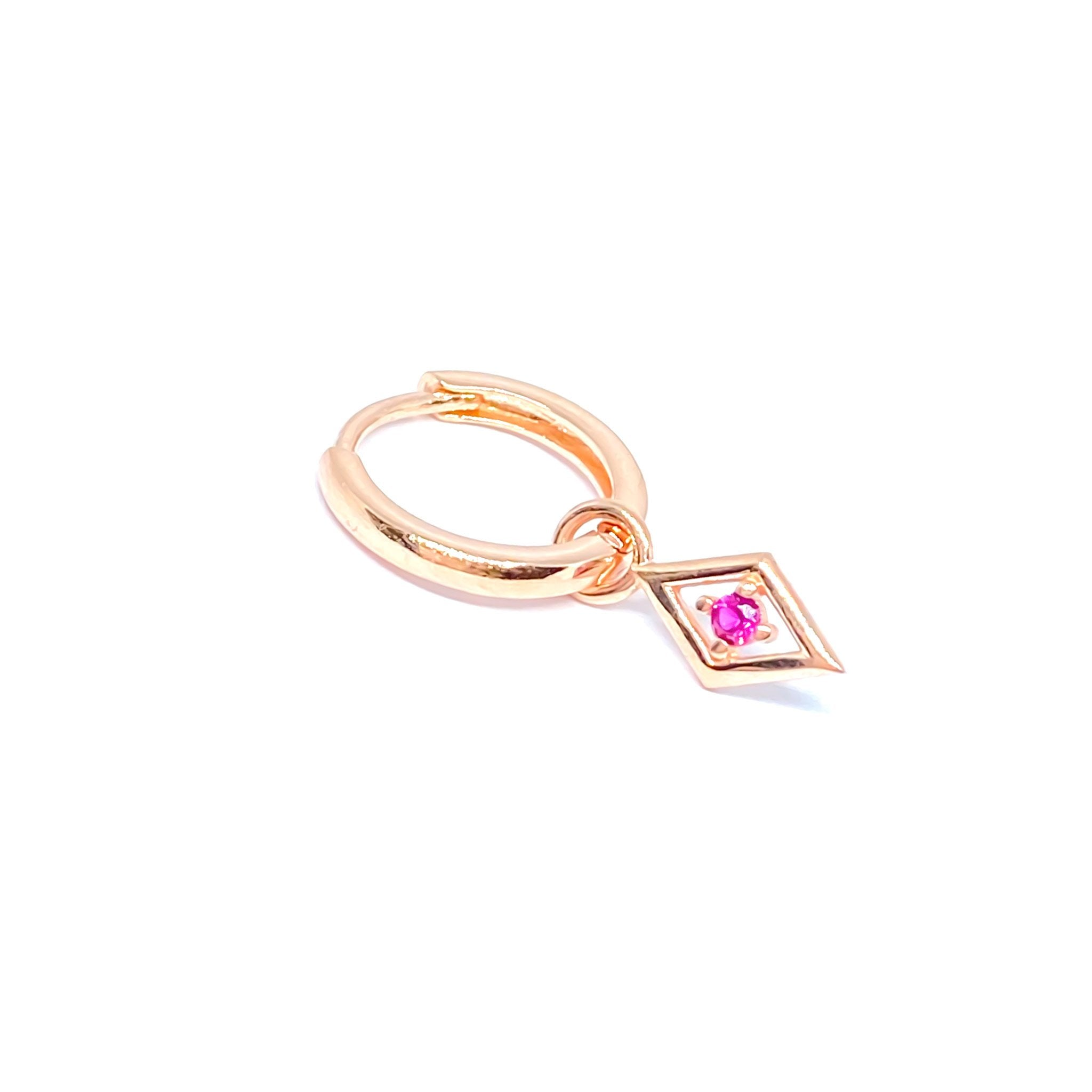 Mini Pink Tile Drop Earring