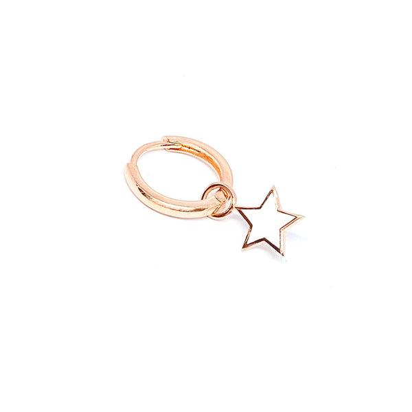 White Enamel Star Earring