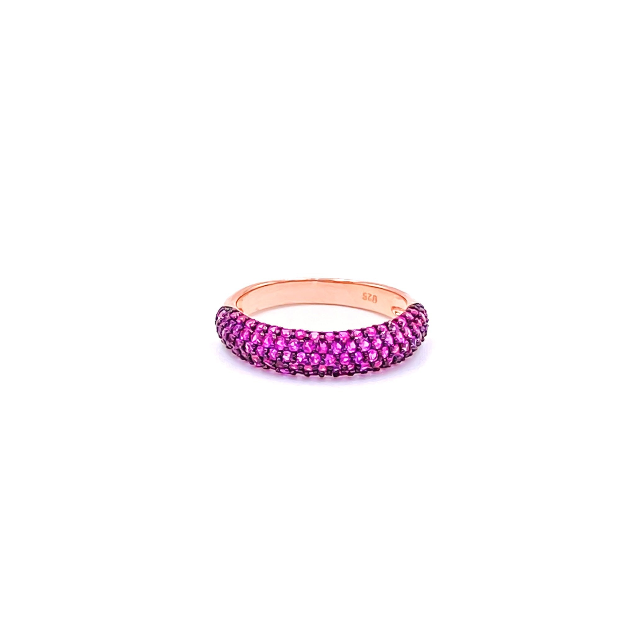 Pink Gemstone Camber Ring