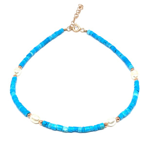 Pearl Turquoise Anklet