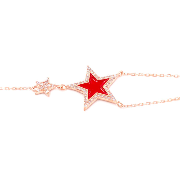 Enamel Double Star Bracelet