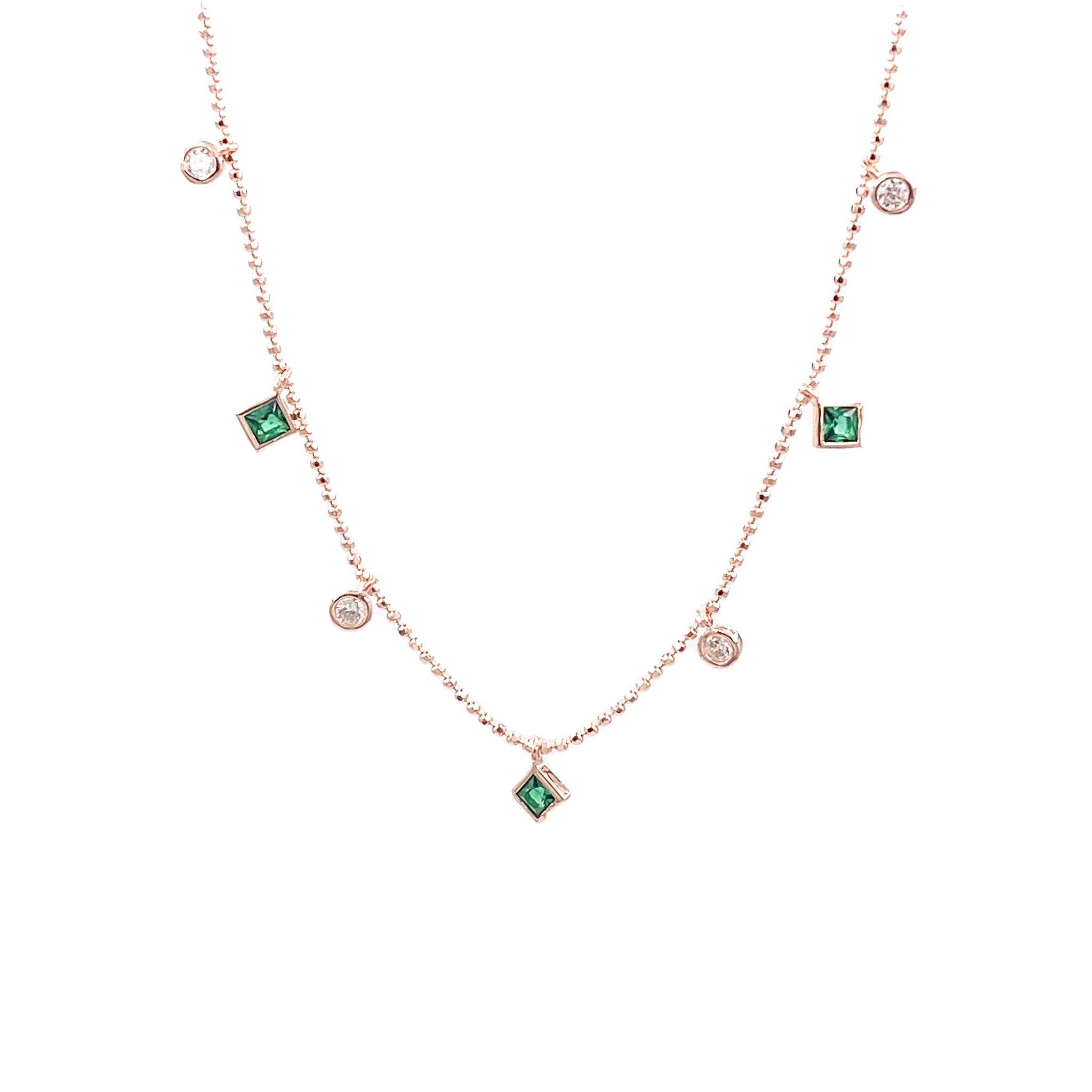 Emerald Tiles Necklace