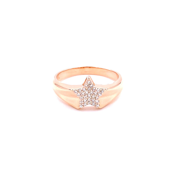 Star Pink Finger Ring