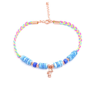 Blue Beaded Sea Horse Anklet