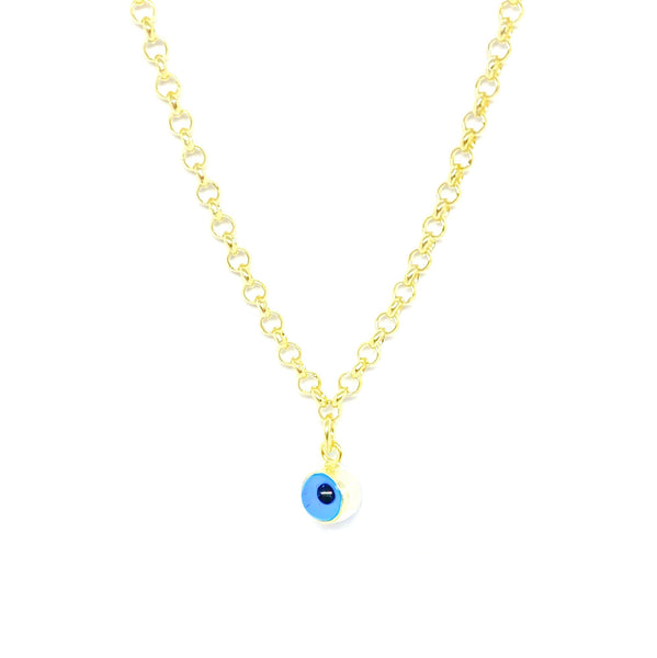 Slim Doch Chain Evil Eye Necklace