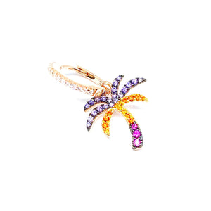 Rainbow Palm Tree Earring