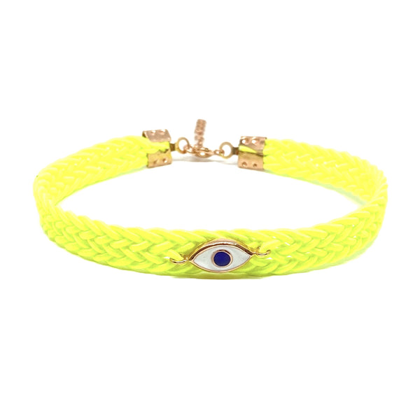 Neon Yellow Eye Anklet