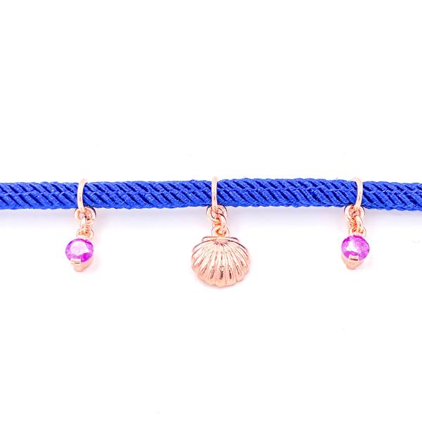 Navy Thick Rope Anklet 3