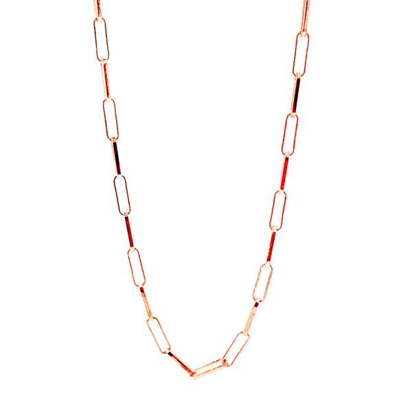 Drawn Chain Necklace - 65 cm