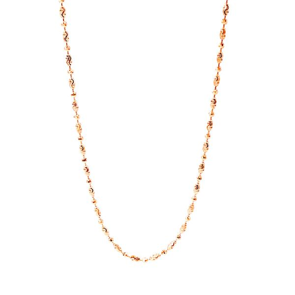 Oval Discs Italian Cut Chain Necklace - 70 cm