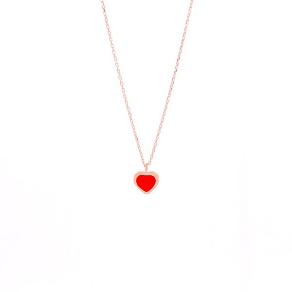 Red Mini Heart Necklace