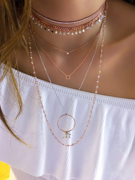 Star Drop Curb Chain Choker