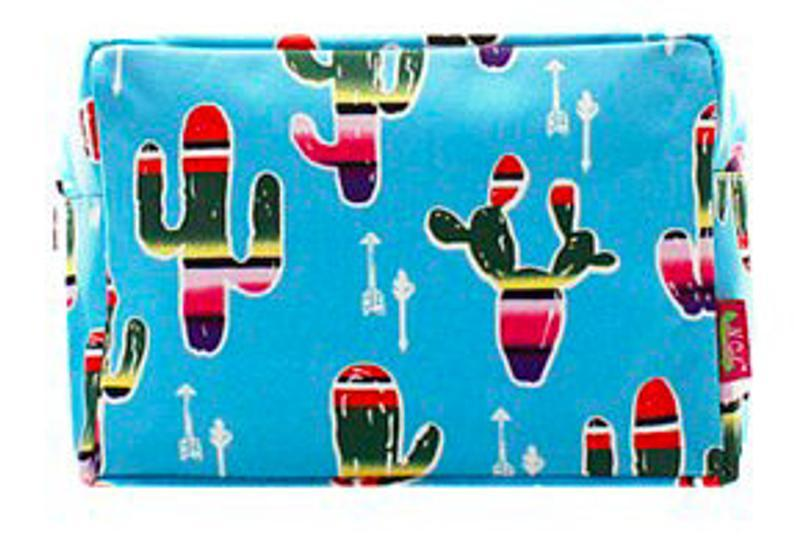 Serape Cactus Large Makeup Bag