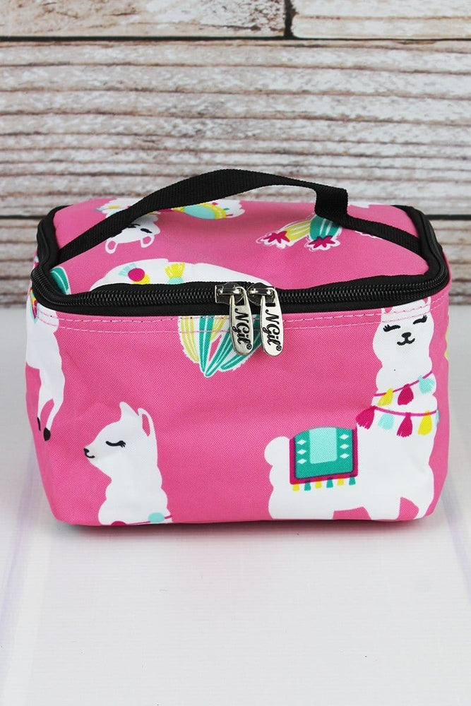 Pretty in Pink Llama Makeup Case