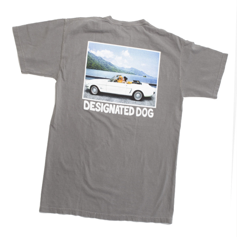 Dog Driving Convertible Mustang Tee