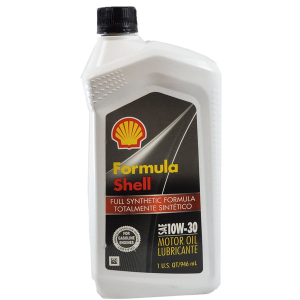Motor Oil Shell Full Synthetic 10W-30 excellent engine protection 1QT