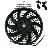 A/C Universal Complete Kit Compressor SD508 V Pulley Condenser 10x18 Fan 10""