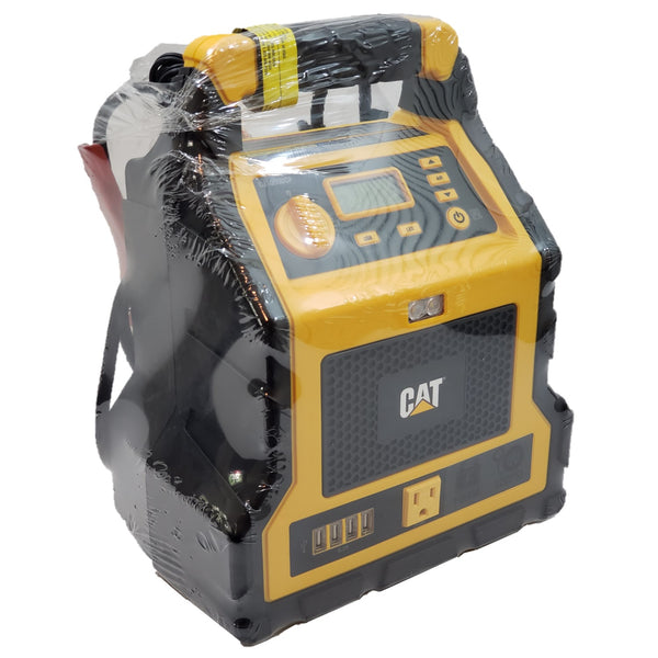 CAT Power Station 500A Jump Starter 120PSI Compressor 4 USB 120V AC Outlet LCD