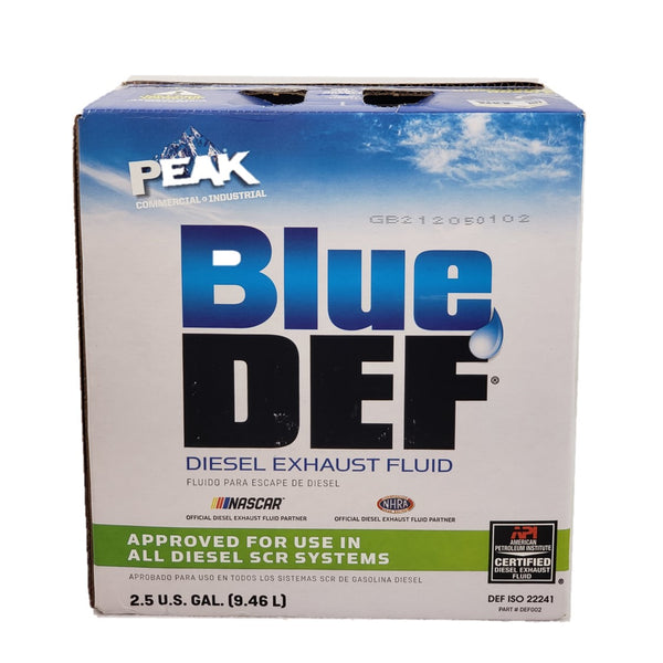 Diesel Exhaust Fluid Blue Def for Diesel vehicles and SCR System (1) 2.5 Gal USA