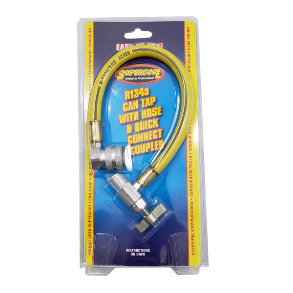 A/C Tool for service R134a Refrigerant Gas Freon Can tap tapper Recharge Hose
