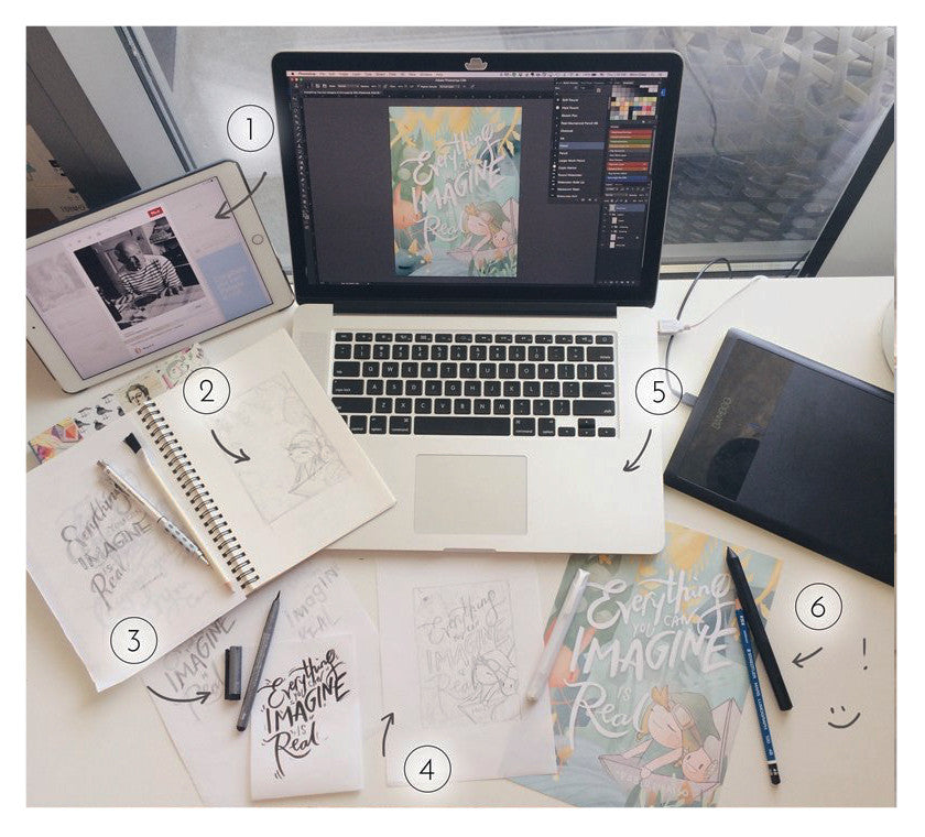 Inspo to Final: Basic Illustration Process