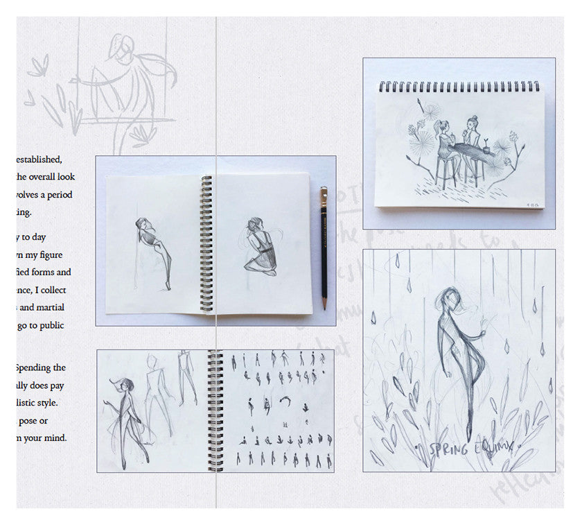 'Seasons' Digital Zine: Design & Illustration Process
