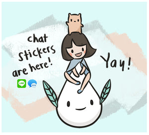 Chat Stickers! Now on LINE and iMessage