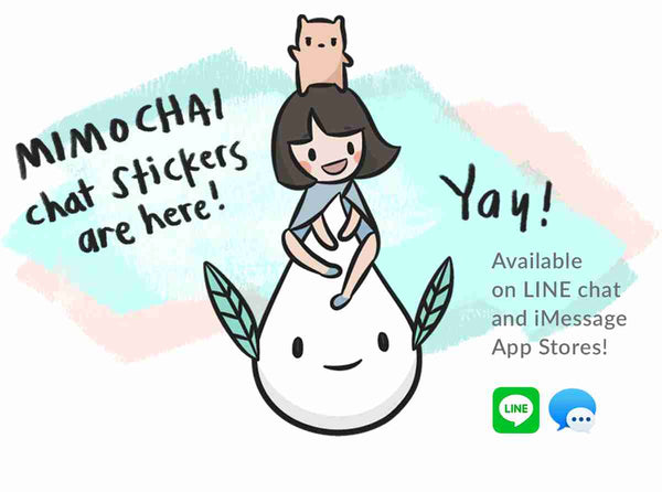 mimochai stickers banner