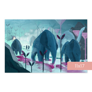 Roam with the Giants | Art Print Room Decor