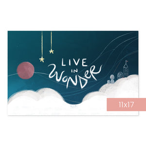Live in Wonder | Art Print Room Decor
