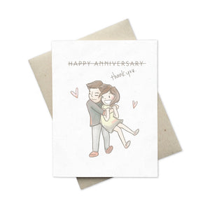 Happy Anniversary Thank You greeting card front