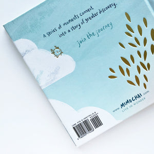 Back cover design for inspiring kid's adventure picture book, from Let's Go Explore by Mimochai