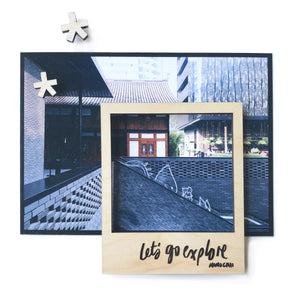 Let's Go Explore diy polaroid magnet wooden frame set