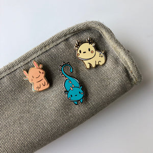 Sprite Enamel Pins on pencil case Fern, Star, and Beer Sprite