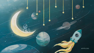 Free Emme & Hamstarcat Whimsical Space Desktop Wallpaper 16:9 1920x1080 dimension