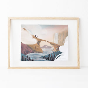 Pass Through the Clouds Print