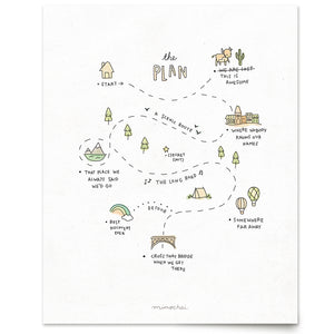 The life Plan art Print front