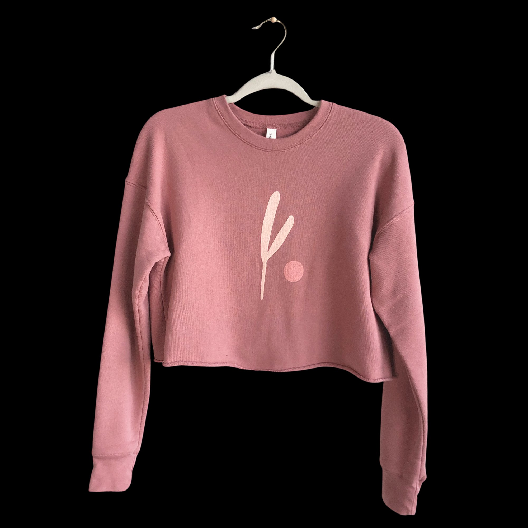 Cropped Sweater | Pink Sprout