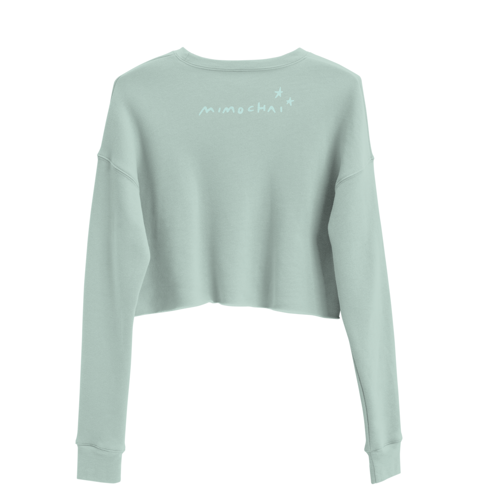 Cropped Sweater | Green Tree