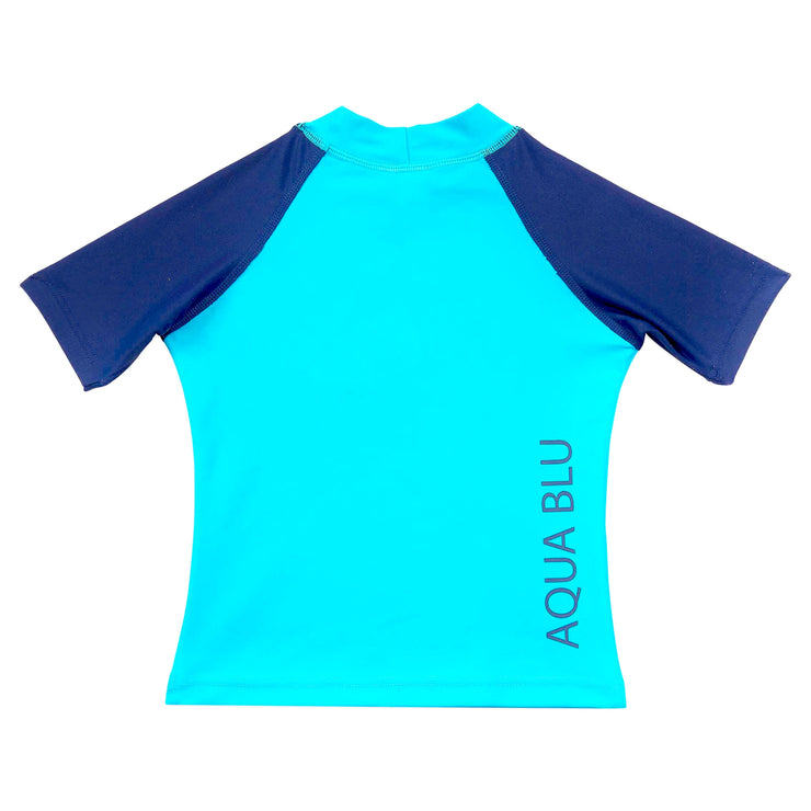 Short Sleeve Rash Vest Blue
