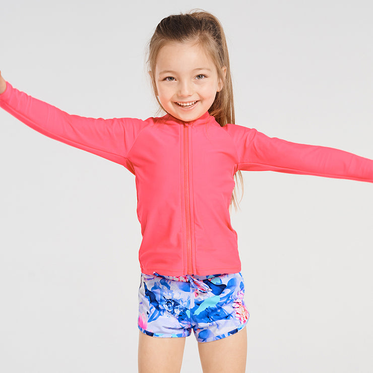 Long Sleeve Rash Vest Pink