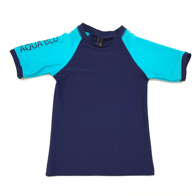 Short Sleeve Rash Vest Navy
