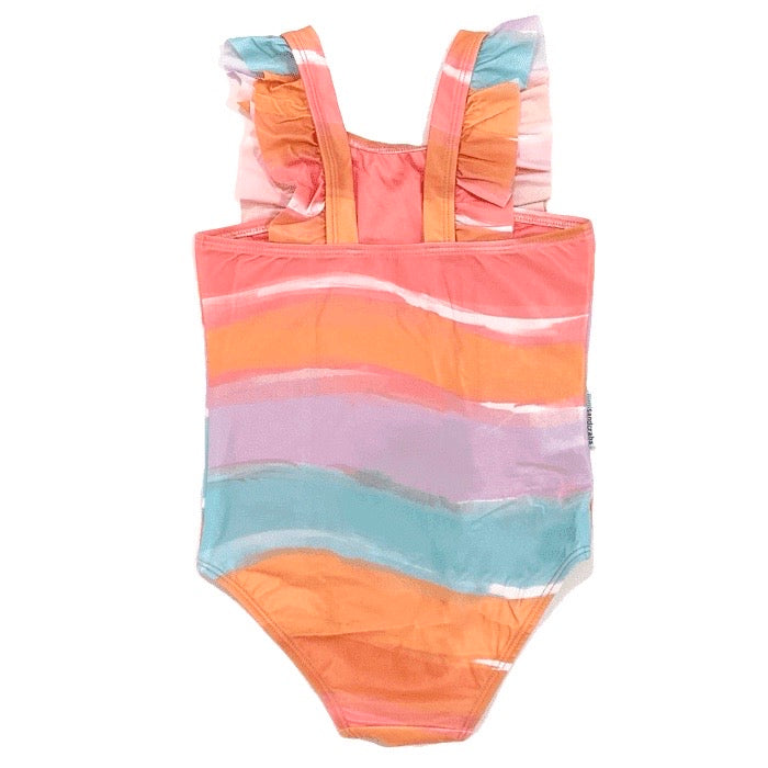 Retro Vibes Ruffle One Piece