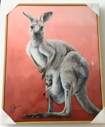 CR AUSTRALIAN ANIMALS CANVAS KANGAROO - Gifts R Us