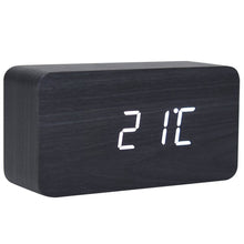 Load image into Gallery viewer, rectangle wood digital desk clock - JJs Newsagency Plus