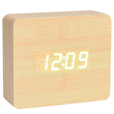 OAK WOOD DIGITAL CLOCK - JJs Newsagency plus